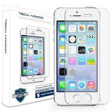 Tech Armor Apple iPhone 5 Ballistic Glass Screen Protectors for