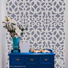 Crafty Ideas Wall Design Stencils For Painting Trendy Classic DIY