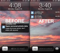 Hide Email Previews from the Lock Screen of iPhone iPad iPod touch