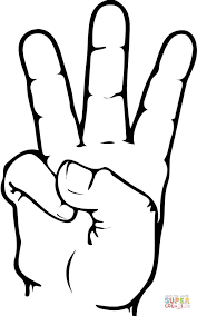 Click The ASL Number 6 Coloring Pages