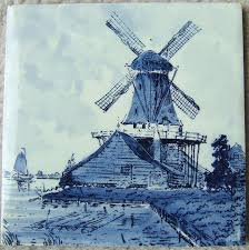 Spode Christmas Tree Cookie Jar Ebay by Vintage Windmill Sailboat Seaside Ceramic Tile Delft Blue Tile