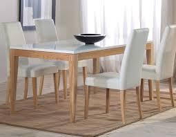 salle à manger blanche et chêne scandinave hcommehome