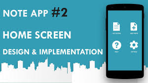 Android Note App #2 : Home Sceen Design & Implementation - YouTube Best Android Home Screen Designs Contemporary Amazing Case Study Overhauling Qvcs App Ben Kennerly Medium Material Design Homescreen By Emiddio Polcaro How To Make Icons The Same Size Shape On Development Essential Traing Design A User Interface Of Day Web Technewsireland Graphic Framework Auto For Devopera Installable Apps And Add Screen Customize Your Tv Home Techhive 4 Login Form Android Tutorial Youtube Microsofts New Launcher Lets You Connect Phone