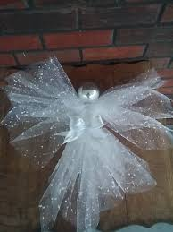 Saran Wrap Christmas Tree With Ornaments by Angel Deco Mesh Angel Tree Ornament Christmas Decor By