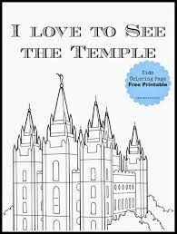 Salt Lake Temple Coloring Page Free Printable