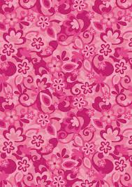 Funky Pink Flowers Scrapbook Paper