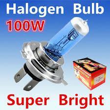 2pcs h4 100w bright white yellow fog halogen bulb 100w car