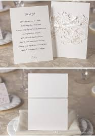 2016 Bow Newest Wedding Invitations Gold Paper Blank Inner Sheet Laser Cutting Invitation Flowers Hot