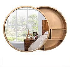 wyl badezimmer spiegelschrank massivholz runden badschrank