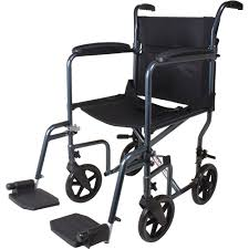 Medline Transport Chair Instructions by Carex Transport Chair With 8 Inch Oversized Wheels Walmart Com