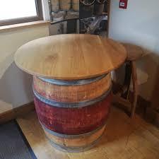 Likable Wine Barrel Pub Table Furniture Whiskey Make Any ...