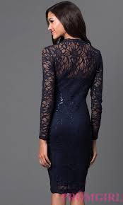 knee length lace marina dress promgirl