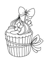 Cupcake Coloring Pages Cup Cake Coloring Page Coloring Pages