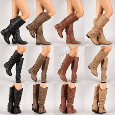 new riding boots knee high fashion faux leather boot stylish shoes