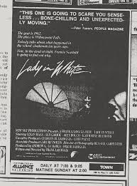 Wnuf Halloween Special Dvd by The Horrors Of Halloween Lady In White 1988 Newspaper Ad Vhs