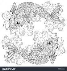 Coloring Pages For PiscesPagesFree Download Printable Within Astrology