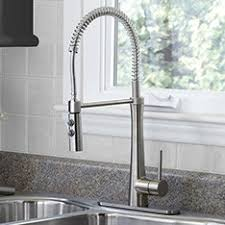 Commercial Style Pre Rinse Kitchen Faucet by Shop Kitchen Faucets U0026 Water Dispensers At Lowes Com