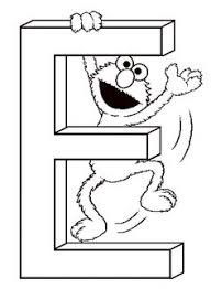 Free Printable Sesame Street Coloring Pages 6 Letter E For Elmo