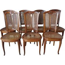 Set Of Six French LOUIS MAJORELLE Art Nouveau Caned Mahogany Dining ... Antique Vintage Art Nouveau Style Set Of 4 Carved Oak Ding Chairs Of Six French Louis Majorelle Caned Mahogany Unusual Victorian Walnut Wrought Iron Floral Lovely Important By Ernesto Basile For Ducrot 6 517550 Ding Chairs Art Nouveau Chair Set Sold Eight Period Tallback Stunning Inlaid High Back 2 Vinterior Fniture Antique Cupboards Tables