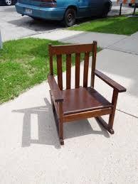vtg antique childs rocker rocking chair stickley era mission oak