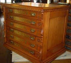 6 drawer oak willimantic spool cabinet excellent condition 15028