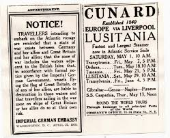 Lusitania Sinks In Real Time by Germany Gave A Warning So Why Was Lusitania Full Toronto Star