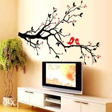 Simple Wall Painting Patterns Paintings Birds Astonishing Ideas A Brilliant Way To Bring