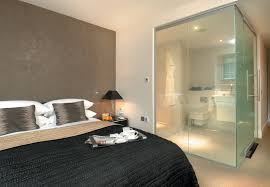 peek a boo lc smartglass for hotel bathroom interiors