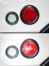 Round LED Truck And Trailer Lights W/ Reflector - 4