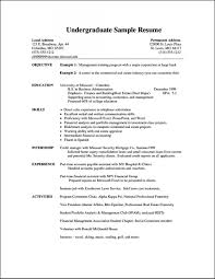Resume Examples For Students Cv