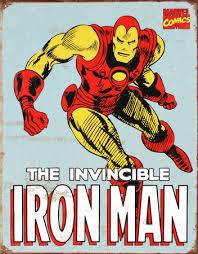 Vintage Superhero Wall Decor by Iron Man Retro Vintage Poster Vintage Poster Comic Book
