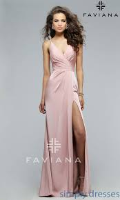 fa 7755b v neck long black formal dress with open back prom