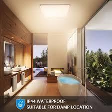 led deckenleuchte warmweiß oeegoo led deckenle 3000k 18w 1800lm badleuchte wasserfest ip44 küchenle für badezimmer balkon wohnzimmer korridor