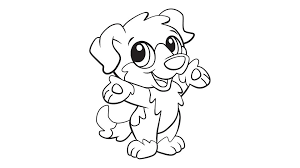 Great Baby Dog Coloring Pages 15 For Free Book With
