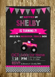 Pink Monster Trucks For Girls, Monster Truck Invitations | Trucks ... Birthday Cards Boys Monster Trucks Truck Nestling Party Invitations Invitation Examples Truck Racing Car 2 3 Etsy 13 Best Jam Inspirational Amazon Lovely Cyclops 19 Mormotanet Pink Svg File With Hearts To Make Shirts Invitations Invite Naptime Serenity Invites Unique Of Blaze And The Templates Free Printable Free