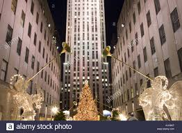Rockefeller Plaza Christmas Tree 2014 by Christmas Tree With Angels Stock Photos U0026 Christmas Tree With
