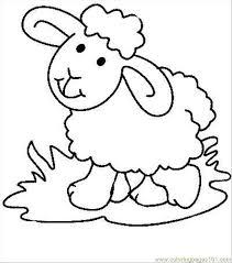 Pages Sheep Mammals Sheeps Printable Coloring Page