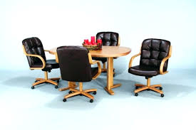 Rolling Dining Chair Dining Room Chairs Casters Dining Room Chairs