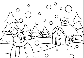 Winter Colouring Pictures For Toddlers Granular Snow Falling Coloring Pages Kids Eiq