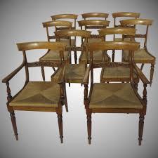 100 Birch Dining Chairs Set Of Ten Antique Empire Black Tulip Antiques Ltd