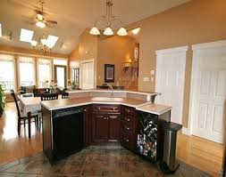 L Shaped Kitchen With Island Sink And Dishwasher Islands Sinks