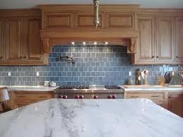 awesome blue glass backsplash tile with black cabinet 8520