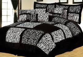 2 cheap queen 7 pcs micro fur zebra giraffe patchwork bedding