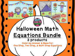 Halloween Trivia Questions And Answers Pdf by Solving Equations Halloween Fall Multi Step Equations Bundle Maze