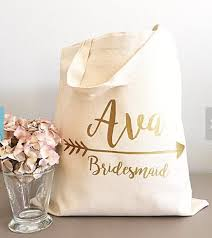 Set Of 6 Personalized Name Bridesmaid Tote Bags Wedding Gift Bachelorette Bridal Shower Champagne Party Favors Pouches In DIY Decorations From