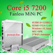 ordinateur de bureau intel i5 mini pc windows 10 7gen sans ventilateur mini pc intel cpu i5