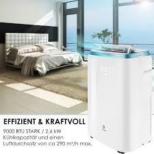 kesser klimaanlage mobil klimagerät 4in1 kühlen luftentfeuchter lüften ventilator 9000 btu h 2 600 watt 2 7kw klima fernbedienung und
