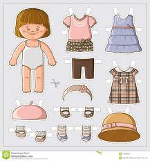 Cute Paper Doll Stock Vector Illustration Of Card