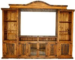 Rustic Wood Entertainment Center Old West Home Wall Unit High Resolution
