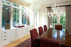 Built In Buffet Sideboard Under Window Dining Room Traditional With Glass Bottles